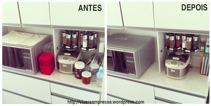 Destralhando armário da cozinha – Viver sem pressa # Como Arrumar O Armario De Cozinha