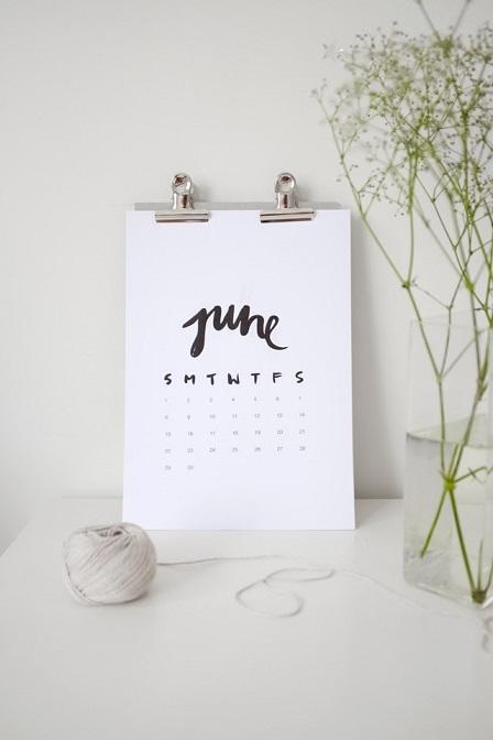 calendário minimalista 2014