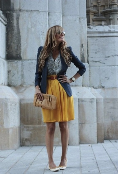 http://indulgy.com/post/PJ9eYvVhC2/blue-blazer-yellow-skirt