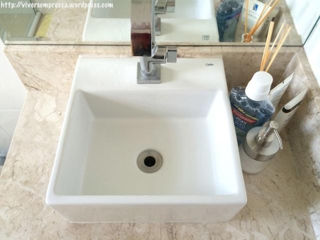 Pia do banheiro - ANTES