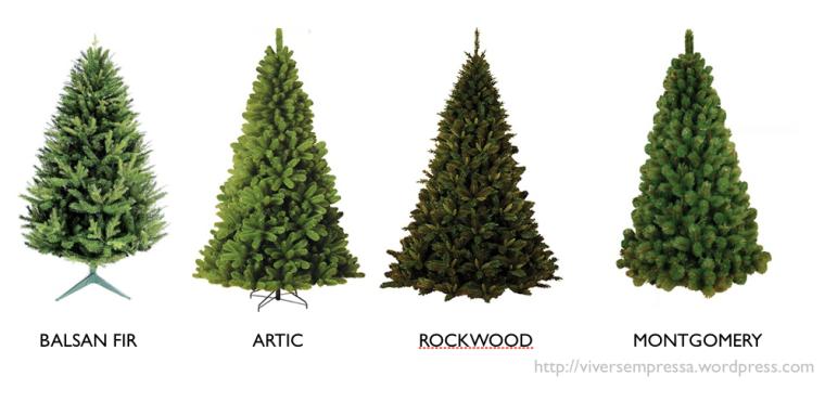 tipos de árvore de Natal