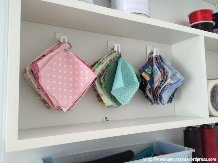 A minha tão adorada amostra de tecidos.