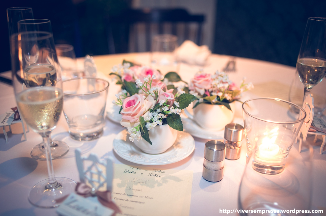 mini wedding decoração mesa